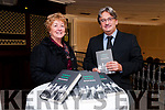 "Book Launch : Author & war correspondent Fergal Keane pictured with Liz Dunn, chairperson of Listowel Writers week at the launch of his new book ""Wounds""at the Listowel Arms hotel on Friday night last."