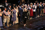 "Susan Stroman with  Jack McBrayer, Rachel Dratch, Jerry O'Connell, Rachel Bloom, Laura Osnes, Tony Yazbeck, Harry Groener, Nancy Opel, Mark Linn-Baker with cast during the Manhattan Concert Productions 25th Anniversary concert performance of ""Crazy for You"" at David Geffen Hall, Lincoln Center on February 19, 2017 in New York City."