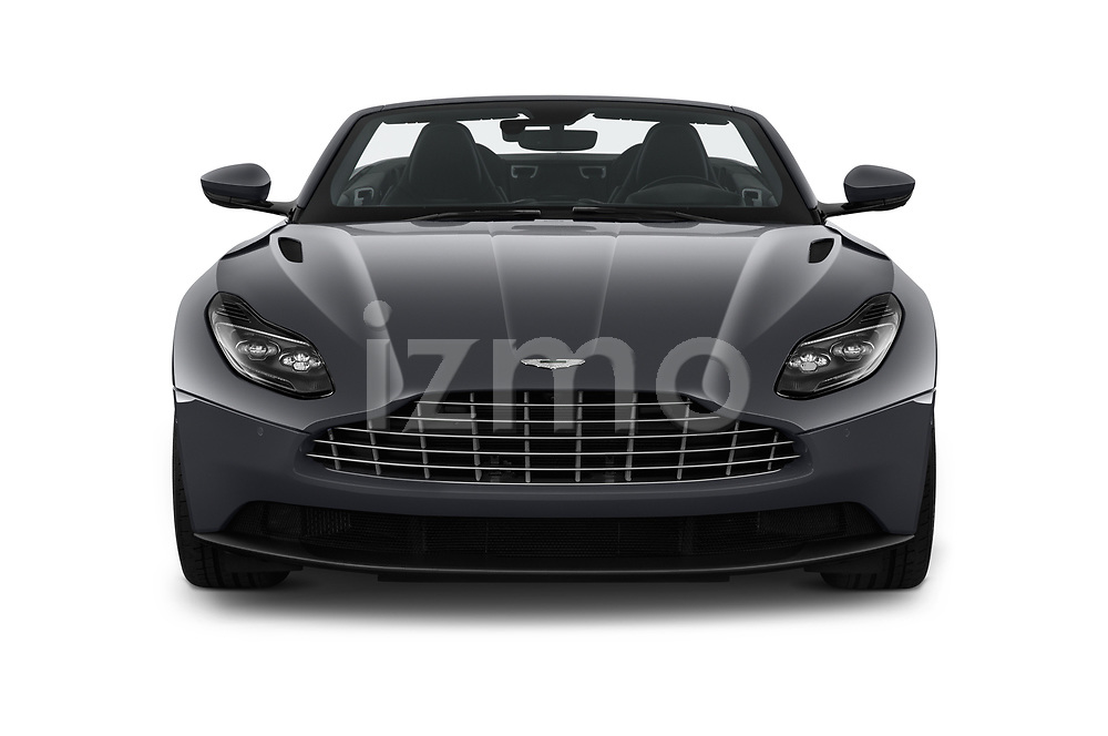 Car photography straight front view of a 2019 Aston Martin DB11-Volante - 2 Door Convertible Front View