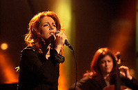February 18, 2002, Montreal, Quebec, Canada; <br /> <br /> Quebec singer Isabelle Boulay in concert<br /> <br /> <br /> <br /> <br /> <br /> NOTE :  D-1 H original JPEG, saved as Adobe 1998 RGB