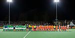 AMSTELVEEN - line up  voor    de hockeyinterland Nederland-Ierland (7-1) , naar aanloop van het WK hockey in India.  COPYRIGHT KOEN SUYK