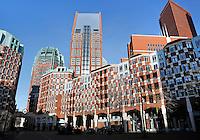 Nieuwbouw bij het Muzenplein in het centrum van Den Haag