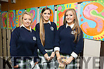 Presentation Secondary Tralee Graduations on Friday pictured l-r  Jess Mackey, Sarah Barry and Emma Campbell