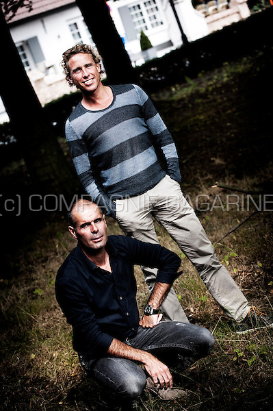 Belgian and Dutch bicycle racers Peter Van Peteghem and Michael Boogerd (Belgium, 10/09/2012)
