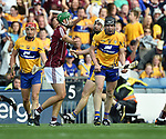Tony Kelly of Clare celebrates a late point during their All-Ireland semi-final against Galway at Croke Park. Photograph by John Kelly.