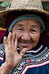 Portrait of an elder Hani woman, Yuanyang, China