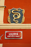 Liliova Street sign Prague - Czech Republic