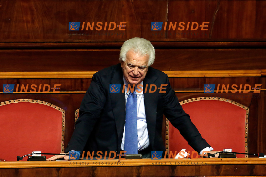 Denis Verdini <br /> Roma 07-12-2016. Senato. Voto di fiducia sulla manovra economica 2017<br /> Rome December 7th 2016. Senate. Trust vote on the economic measures for 2017<br /> Foto Samantha Zucchi Insidefoto
