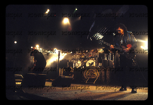 BLACK SABBATH- Black Sabbath performing live at the Blockbuster Pavillion in Devore, CA USA - July 24, 1999.  Photo © Kevin Estrada / Iconicpix