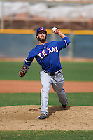 Texas Rangers pitcher Sterling Wynn (84) during an instructional league game against the Los Angeles Angels / Chicago Cubs co-op team on October 5, 2015 at the Surprise Stadium Training Complex in Surprise, Arizona.  (Mike Janes/Four Seam Images)