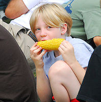 Kids and adults enjoy the food and entertainment at the annual Sweet Corn Festival on Sunday, 8/23/09, in Sun Prairie's Angell Park