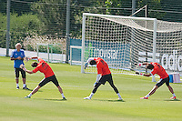 Goalkeepers during Real Madrid´s first training session of 2013-14 seson. July 15, 2013. (ALTERPHOTOS/Victor Blanco) ©NortePhoto