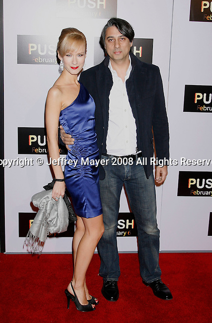 "WESTWOOD, CA. - January 29: Writer David Bourla (R) and guest arrive at the Los Angeles Premiere of ""Push"" at the Mann Village Theater on January 29, 2009 in Westwood, California."