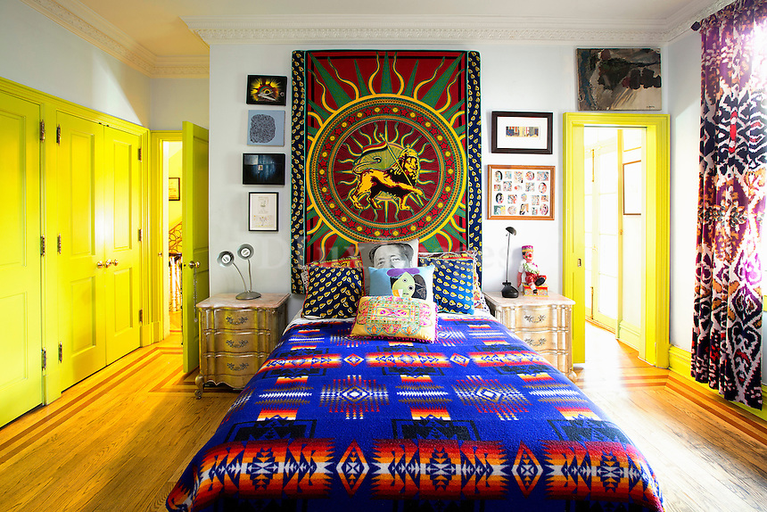 colored ethnic bedroom