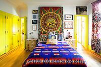 colored ethnic bedroom