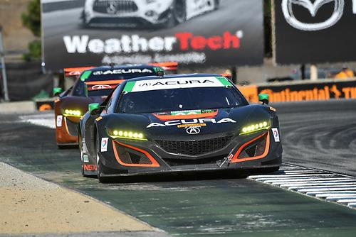 IMSA WeatherTech SportsCar Championship<br /> AMERICA'S TIRE 250<br /> Mazda Raceway Laguna Seca<br /> Monterey, CA USA<br /> Sunday 24 September 2017<br /> 86, Acura, Acura NSX, GTD, Oswaldo Negri Jr., Jeff Segal<br /> World Copyright: Richard Dole<br /> LAT Images<br /> ref: Digital Image DSC_3876