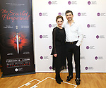 """Laura Osnes and Tony Yazbeck attend the Meet the Cast of The MCP Production of """"The Scarlet Pimpernel"""" at Pearl Rehearsal studio Theatre on February 14, 2019 in New York City."""