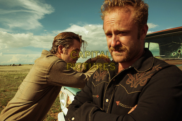 Hell or High Water (2016)<br /> Ben Foster &amp; Chris Pine  <br /> *Filmstill - Editorial Use Only*<br /> CAP/KFS<br /> Image supplied by Capital Pictures