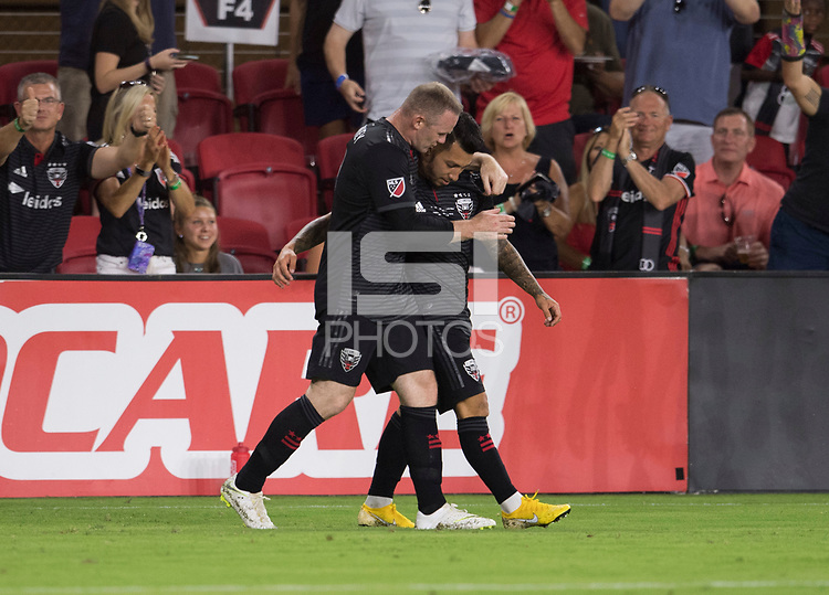 Washington, DC - July 14, 2018: D.C. United defeated the Vancouver Whitecaps 3-1 during a Major League Soccer (MLS) match at Audi Field.
