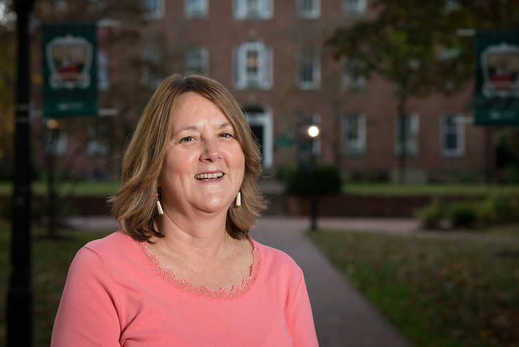 Clair Carson of Cutler Business Services poses in front of Cutler Hall on October 19, 2016.