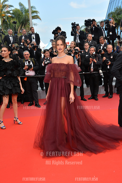 "CANNES, FRANCE. May 22, 2019: Izabel Goulart  at the gala premiere for ""Oh Mercy!"" at the Festival de Cannes.<br /> Picture: Paul Smith / Featureflash"