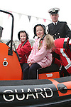 Keileen and Dillon  O'Connor in the Coastguard boat at Scotch Hall...Photo NEWSFILE/Jenny Matthews.(Photo credit should read Jenny Matthews/NEWSFILE)....This Picture has been sent you under the condtions enclosed by:.Newsfile Ltd..The Studio,.Millmount Abbey,.Drogheda,.Co Meath..Ireland..Tel: +353(0)41-9871240.Fax: +353(0)41-9871260.GSM: +353(0)86-2500958.email: pictures@newsfile.ie.www.newsfile.ie.FTP: 193.120.102.198.
