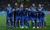 Football: Euro 2020 Group J qualifying football match Italy vs Finland at the Friuli Stadium in Udine on march  23, 2019<br /> Italy players pose for the pre match photograph prior to the Euro 2020 qualifying football match between Italy and Finland at the Friuli Stadium in Udine, on march 23, 019<br /> UPDATE IMAGES PRESS/Isabella Bonotto