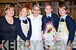 Pupils of St Joseph's secondary school Ballybunion pictured with Darina Allen at the opening of the Foodfair Listowel on Friday night were Maria O' Donovan, (home ecominics teacher) , Jennifer Brosnan, Darina Allan, Sine?ad Breen and Ro?isi?n Cummins ( Bord Bia Quality mark Schools Project)   Copyright Kerry's Eye 2008