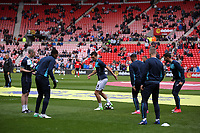 Johnny Northeast, Leroy Fer, Jack Cork, Luciano Narsingh, Stephen Kingsley and Borja Gonzalez of Swansea warm up prior to the Premier League match between Sunderland and Swansea City at the Stadium of Light, Sunderland, England, UK. Saturday 13 May 2017