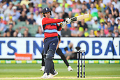 10th February 2018, Melbourne Cricket Ground, Melbourne, Australia; International Twenty20 Cricket, Australia versus England; Jason Roy of England in batting action