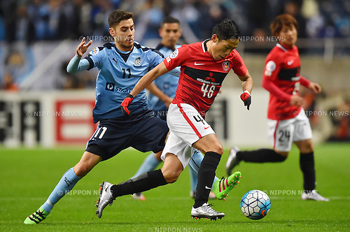Christopher Naumoff (Sydney FC), Ryota Moriwaki (Reds),<br /> FEBRUARY 24, 2016 - Football / Soccer :<br /> AFC Champions League Group H match between Urawa Red Diamonds 2-0 Sydney FC at Saitama Stadium 2002 in Saitama, Japan. (Photo by AFLO)