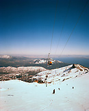 ARGENTINA, Bariloche, Cerro Cathedral, people travelling by ski lift
