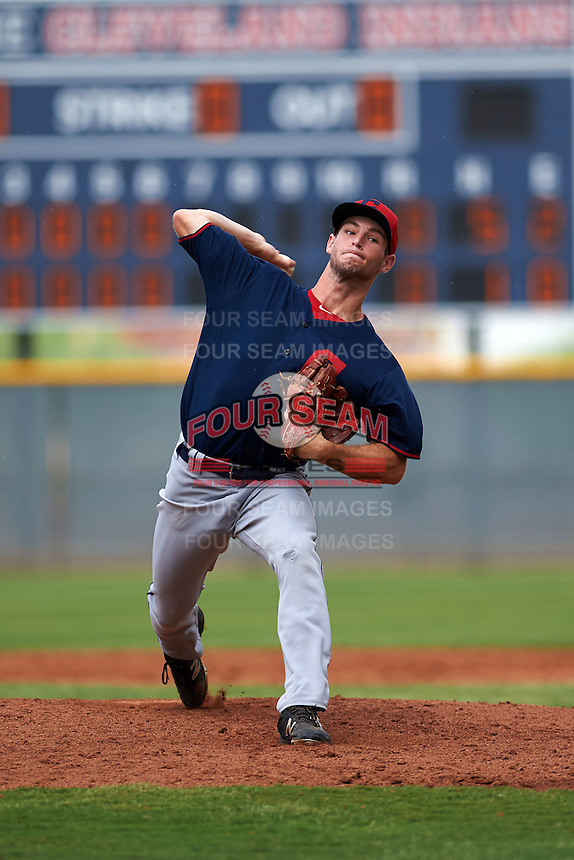 Cleveland Indians pitcher Jonas Wyatt (51) during an instructional league game against the Cincinnati Reds on October 17, 2015 at the Goodyear Ballpark Complex in Goodyear, Arizona.  (Mike Janes/Four Seam Images)