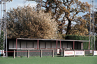 Small covered area at Diss Town FC Football Ground, Brewers Green Lane, Diss, Norfolk, pictured on 1st November 1996