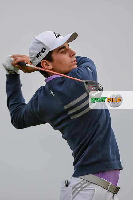Joaquin Niemann (CHL) watches his tee shot on 11 during day 1 of the Valero Texas Open, at the TPC San Antonio Oaks Course, San Antonio, Texas, USA. 4/4/2019.<br /> Picture: Golffile   Ken Murray<br /> <br /> <br /> All photo usage must carry mandatory copyright credit (© Golffile   Ken Murray)