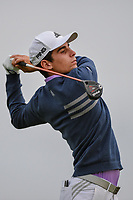 Joaquin Niemann (CHL) watches his tee shot on 11 during day 1 of the Valero Texas Open, at the TPC San Antonio Oaks Course, San Antonio, Texas, USA. 4/4/2019.<br /> Picture: Golffile | Ken Murray<br /> <br /> <br /> All photo usage must carry mandatory copyright credit (© Golffile | Ken Murray)