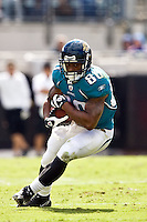 October 18, 2009:      Jacksonville Jaguars wide receiver Mike Thomas (80) during action between the NFC West St. Louis Rams and AFC South Jacksonville Jaguars at Jacksonville Municipal Stadium in Jacksonville, Florida. Jacksonville defeated St. Louis in overtime 23-20............