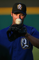 May 14 2009: Andrew Romine of the Rancho Cucamonga Quakes before game against the High Desert Mavericks at The Epicenter in Rancho Cucamonga,CA.  Photo by Larry Goren/Four Seam Images