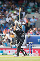 Martin Guptill (New Zealand) goes big but loses control as he lofts fortunately behind point during India vs New Zealand, ICC World Cup Warm-Up Match Cricket at the Kia Oval on 25th May 2019