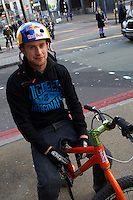 Danny MacAskill , Waterloo , London  October 2010  pic copyright Steve Behr / Stockfile
