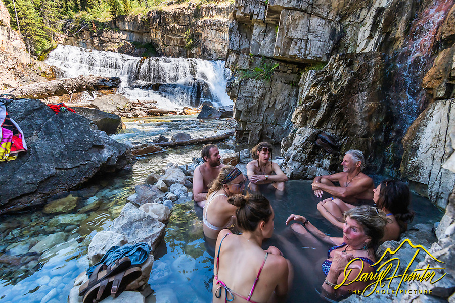 Granite Creek Falls, natural hot spring, Jackson Hole, Wyoming