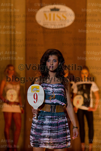 Bianka Dezsanyi attends the Miss Hungary 2010 beauty contest held in Budapest, Hungary on November 29, 2010. ATTILA VOLGYI