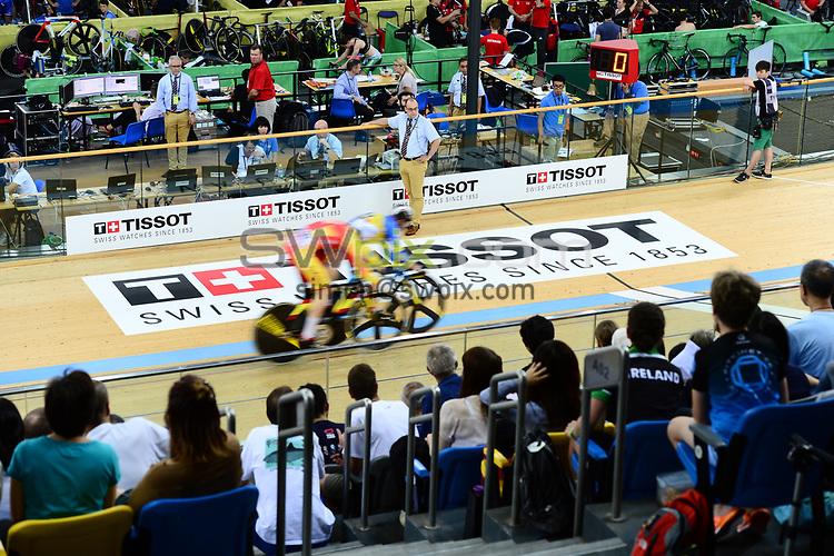 Picture by Richard Blaxall/SWpix.com - 14/04/2017 - Cycling - 2017 UCI Track Cycling World Championships - Hong Kong Velodrome, Tseung Kwan O, Hong Kong - the,brief,marketing,tissot,santini,tacx,shimano,