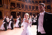 0802020202c Dress rehearsal of the 13th Budapest Opera Ball held at Opera House involving 50 couples of debutantes performing the opening waltz. Budapest, Hungary. Saturday, 02. February 2008. ATTILA VOLGYI