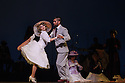 "London, UK. 29.02.2016. German Cornejo's ""Immortal Tango"" opens at the Peacock Theatre. The dancers are: German Cornejo, Gisela Galeassi, Jose Fernandez, Martina Waldman, Max Van De Voorde, Solange Acosta, Mariano Balois, Sabrina Amuchastegui, Leonard Luizaga, Mauro Caiazza, Tere Sanchez Terraf, Julio Seffino, Carla Dominguez. Picture shows: Max Van De Voorde, Solange Acosta. Photograph © Jane Hobson."