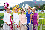 Finalists in the Ladies Day competition pictured at Killarney Races on Thursday, from left: Irene Deasy, Ann Marie O'Leary, Michelle Walsh, Siobhan Carey and Elaine Kelliher.