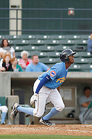 Myrtle Beach Pelicans outfielder Trey Martin (15) at bat during a game against the Salem Red Sox at Ticketreturn.com Field at Pelicans Ballpark on May 6, 2015 in Myrtle Beach, South Carolina.  Myrtle Beach defeated Salem 4-2. (Robert Gurganus/Four Seam Images)