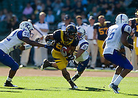 September 17, 2011:  California's John Tyndall fights down the field for some yardage during a game against Presbyterian Football at AT&T Park, San Francisco, Ca    California Defeated Presbyterian 63 - 12