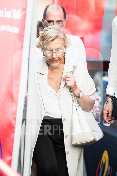 Madrid Mayor, Manuela Carmena during La Vuelta a España 2016 in Madrid. September 11, Spain. 2016. (ALTERPHOTOS/BorjaB.Hojas)