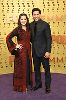 LOS ANGELES - SEP 22:  Jon Huertas, Nicole Bordges at the Primetime Emmy Awards - Arrivals at the Microsoft Theater on September 22, 2019 in Los Angeles, CA